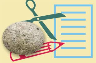 Πέτρα, μολύβι, ψαλίδι, χαρτί